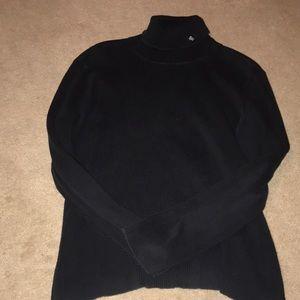 RALPH LAUREN SIZE XL BLACK TURTLENECK